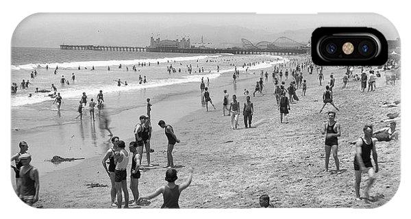 Santa Monica Beach Circa 1920 IPhone Case