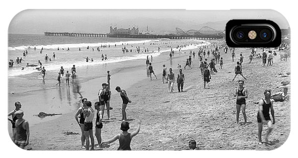 Santa Monica Beach Circa 1920 IPhone Case