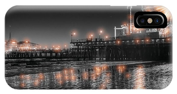 IPhone Case featuring the photograph Santa Monica Glow By Mike-hope by Michael Hope
