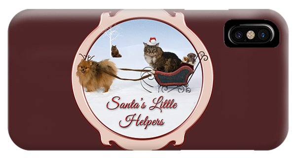iPhone Case - Santa's Little Helpers by Cynthia Leaphart