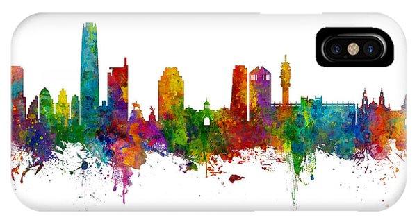 South America iPhone Case - Santiago De Chile Skyline by Michael Tompsett