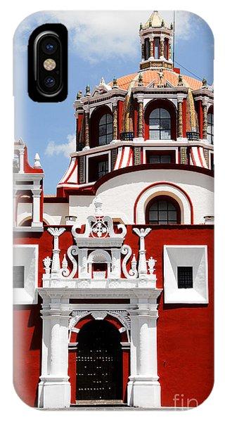 Dome iPhone Case - Santo Domingo Church, Puebla Mexico by Alberto Loyo