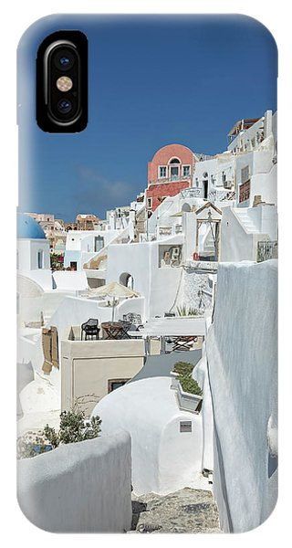 IPhone Case featuring the photograph Santorini And Up by Kay Brewer