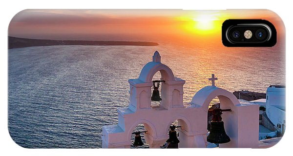 Bell iPhone Case - Santorini Sunset by Evgeni Dinev