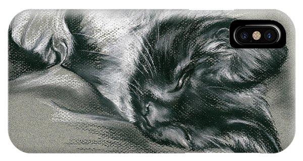 Sassy Samantha The Tuxedo Cat IPhone Case