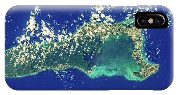International Space Station iPhone Case - Satellite View Of Grand Cayman by Panoramic Images