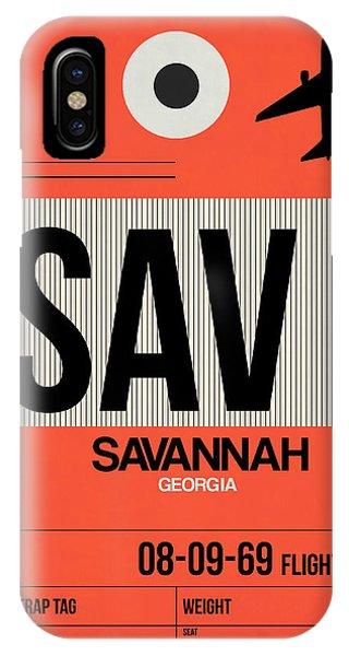 Georgia iPhone Case - Sav Savannah Luggage Tag I by Naxart Studio