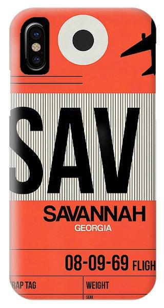 Travel iPhone Case - Sav Savannah Luggage Tag I by Naxart Studio