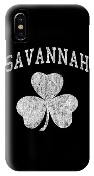 St. Patricks Day iPhone Case - Savannah Georgia Irish Shamrock by Flippin Sweet Gear
