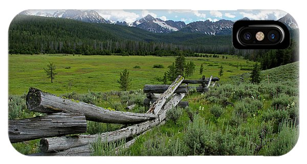 Sawtooth Range And 1975 Pole Fence IPhone Case