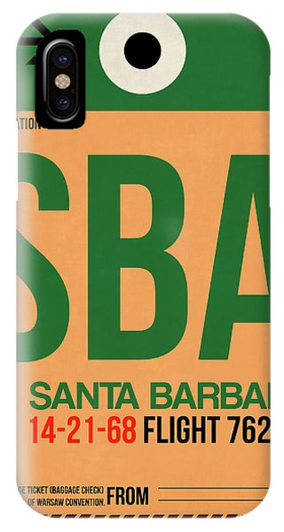 Barbara iPhone Case - Sba Santa Barbara Luggage Tag I by Naxart Studio