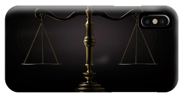 Equal Rights iPhone Case - Scales Of Justice Dramatic by Allan Swart