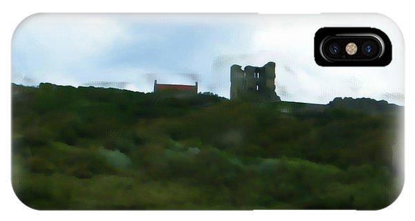 Scarborough Castle Painting IPhone Case