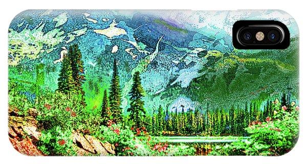 Scenic Mountain Lake IPhone Case