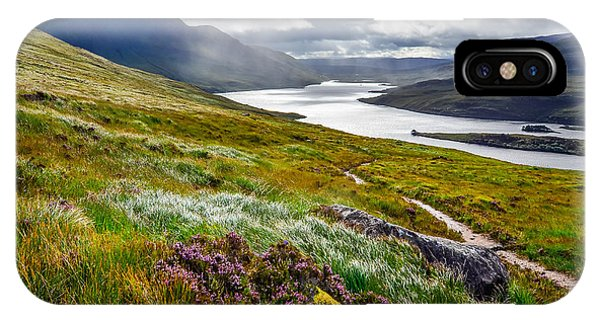 Northern Scotland iPhone Case - Scenic View Of The Lake And Mountains by Martin M303