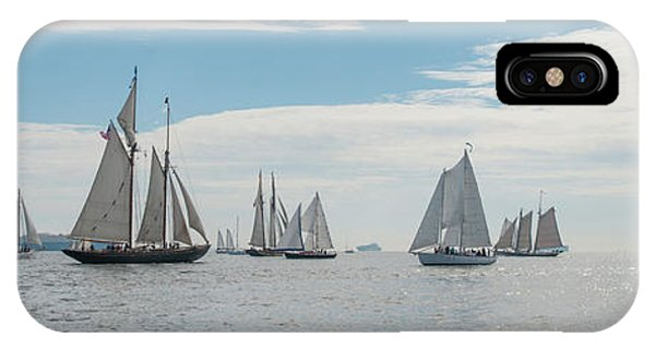 IPhone Case featuring the photograph Schooners On The Chesapeake Bay by Mark Duehmig