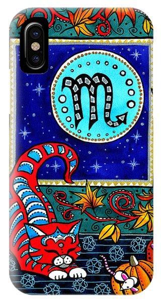 Scorpio Cat Zodiac IPhone Case