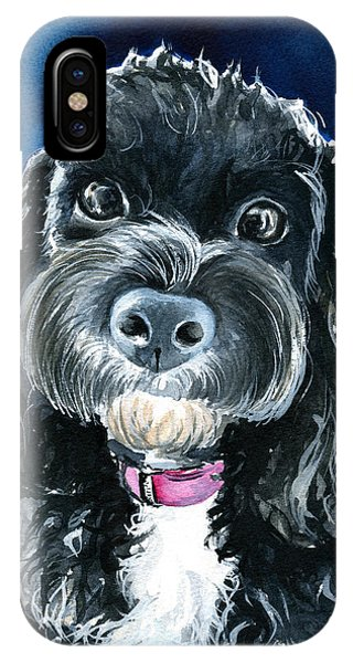 Scout - Cavoodle Dog Painting IPhone Case