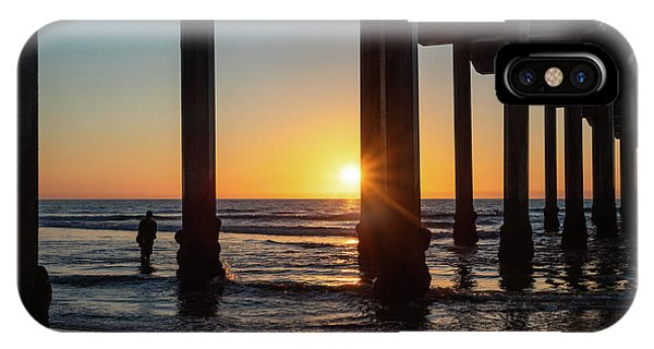 Scripps Pier IPhone Case