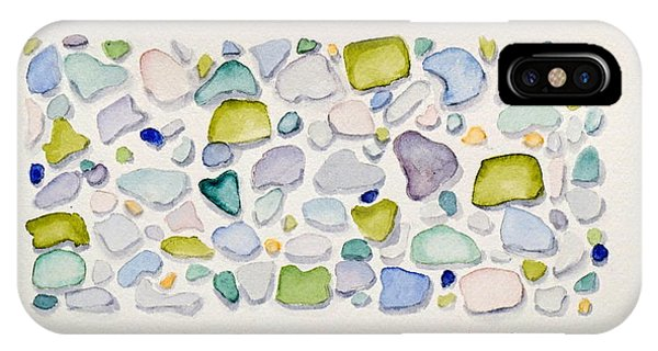 Sea Glass Hearts IPhone Case