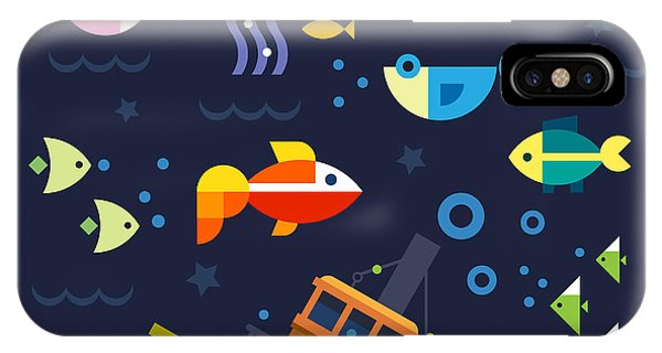 Reef Diving iPhone Case - Sea Life. Underwater World. Fish by Beresnev