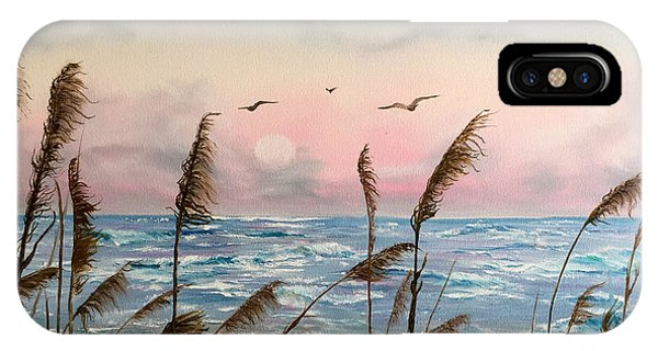 Sea Oats And Seagulls  IPhone Case