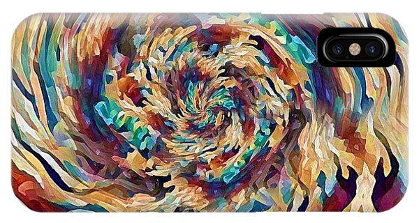 IPhone Case featuring the digital art Sea Salad Swirl by David Manlove