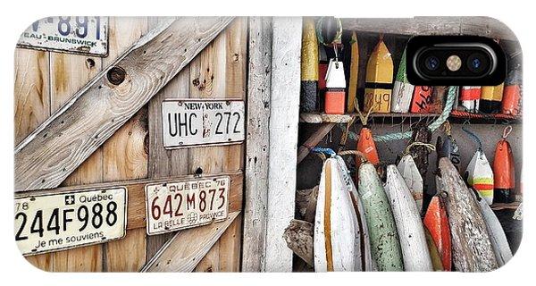 Sea Shack Plates And Buoys IPhone Case