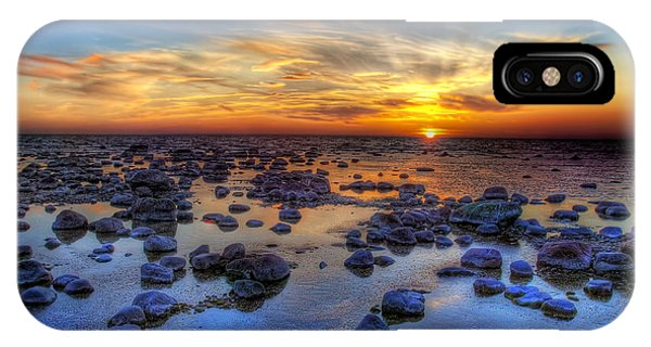 Illusion iPhone Case - Sea Stones At Sunset by Deniss Dronin