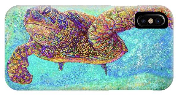 Reef Diving iPhone Case - Sea Turtle by Julianne Black DiBlasi