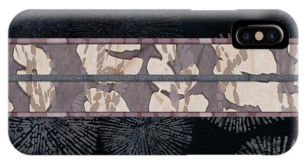Sea Urchin Contrast Obi Print IPhone Case