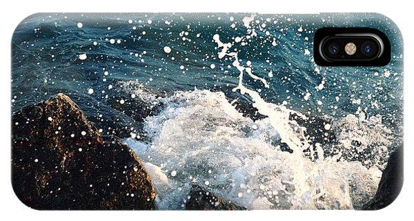 Sea  Wave  Break On Stone,aegean Phone Case by
