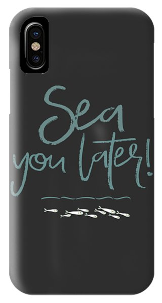 Simple iPhone Case - Sea You Later by Amanda Lakey