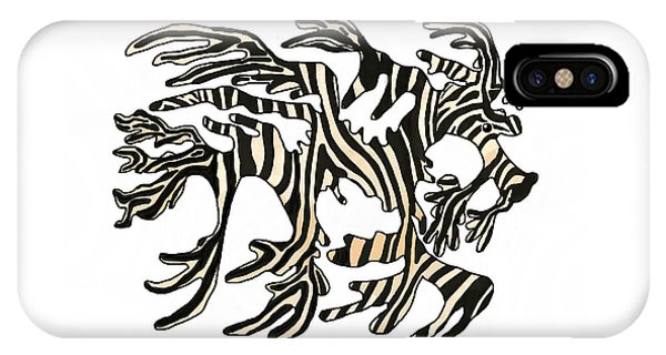 iPhone Case - Sea Zebra Dragon 1 by Joan Stratton