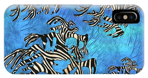 iPhone Case - Sea Zebra Dragon 4 by Joan Stratton