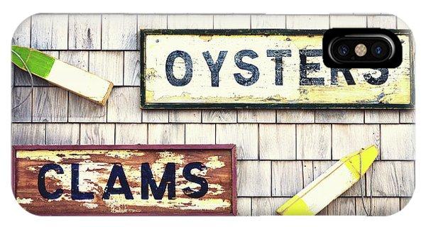 Menu iPhone Case - Seafood Signs by Jane Rix