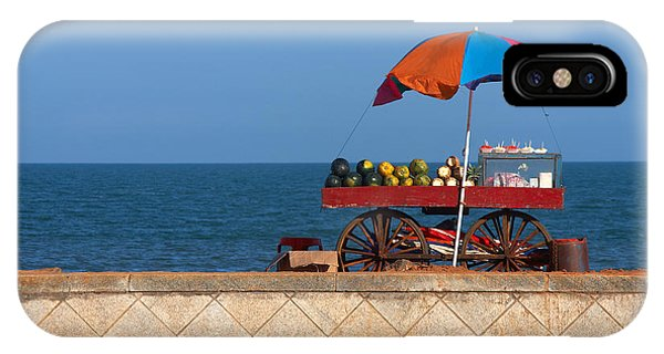Ripe iPhone Case - Seafront View Of Vendors Cart With by Polryaz