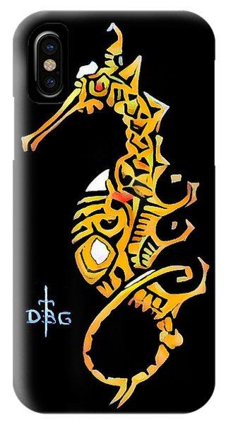 Seahorse Golden IPhone Case