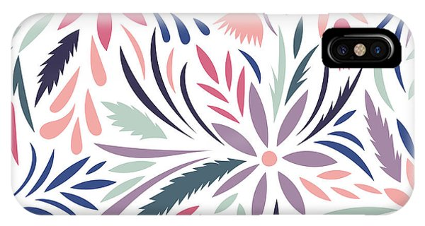Peony iPhone Case - Seamless Floral Pattern. Vector Floral by Tets