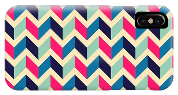 Cover iPhone Case - Seamless Geometric Pattern With by Mrs. Opossum
