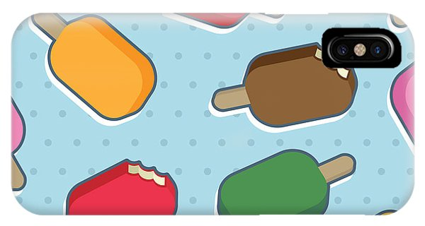 Seamless iPhone Case - Seamless Ice Cream Pattern by Mattasbestos