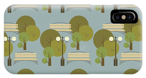 Seamless Pattern On The Theme Parks And Phone Case by Marrishuanna
