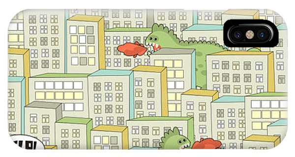 Comic iPhone Case - Seamless Pattern With Buildings And by Eka Panova