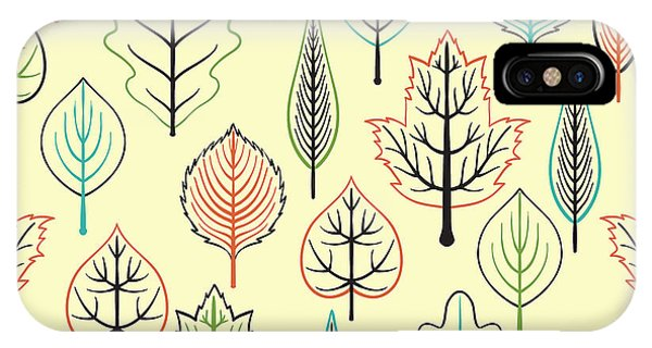 Ornamental iPhone Case - Seamless Pattern With Leaf, Autumn Leaf by Nastyasigne