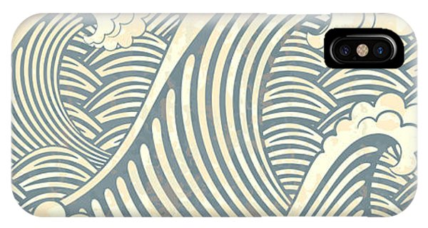 Ocean Breeze iPhone Case - Seamless Pattern With Waves by Il67