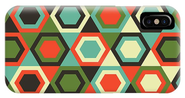 Seamless iPhone Case - Seamless Retro Geometric Pattern by Tracie Andrews