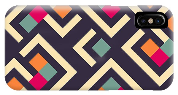 Cover iPhone Case - Seamless Vector Geometric Pattern by Aksana Shum