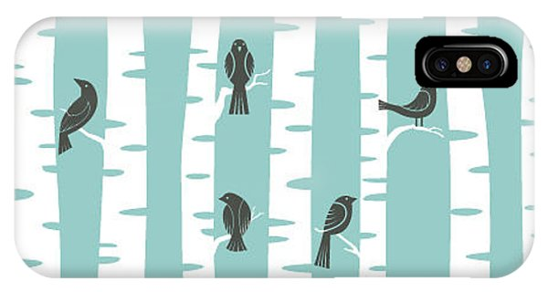 Seamless iPhone Case - Seamless Vector Pattern With Birds And by Ku suriuri