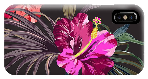 Seamless iPhone Case - Seamless Vector Tropical Pattern by Rosapompelmo