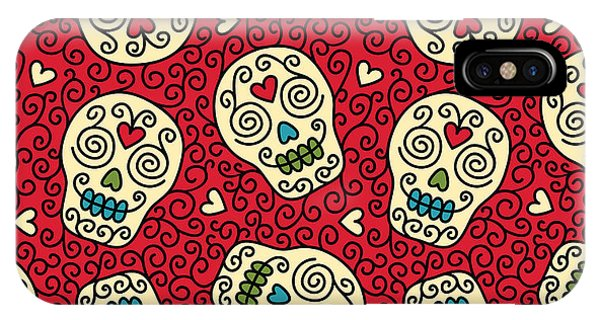 Seamless With Mexican Skulls Phone Case by Rvvlada